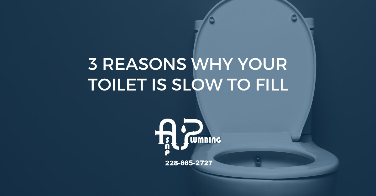 3 Reasons Why Your Toilet Is Slow To Fill