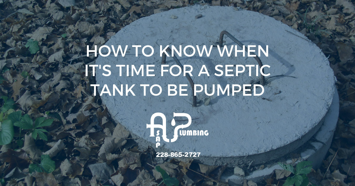 How to Know When it's Time For a Septic Tank to be Pumped