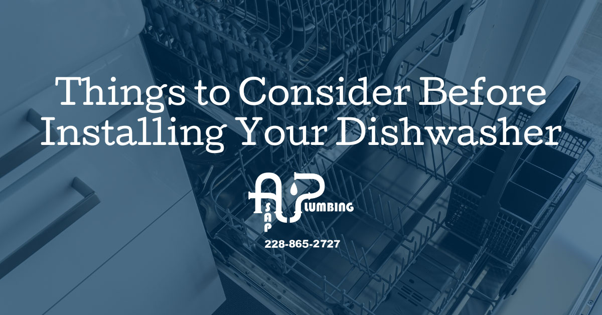 Things to Consider Before Installing Your Dishwasher