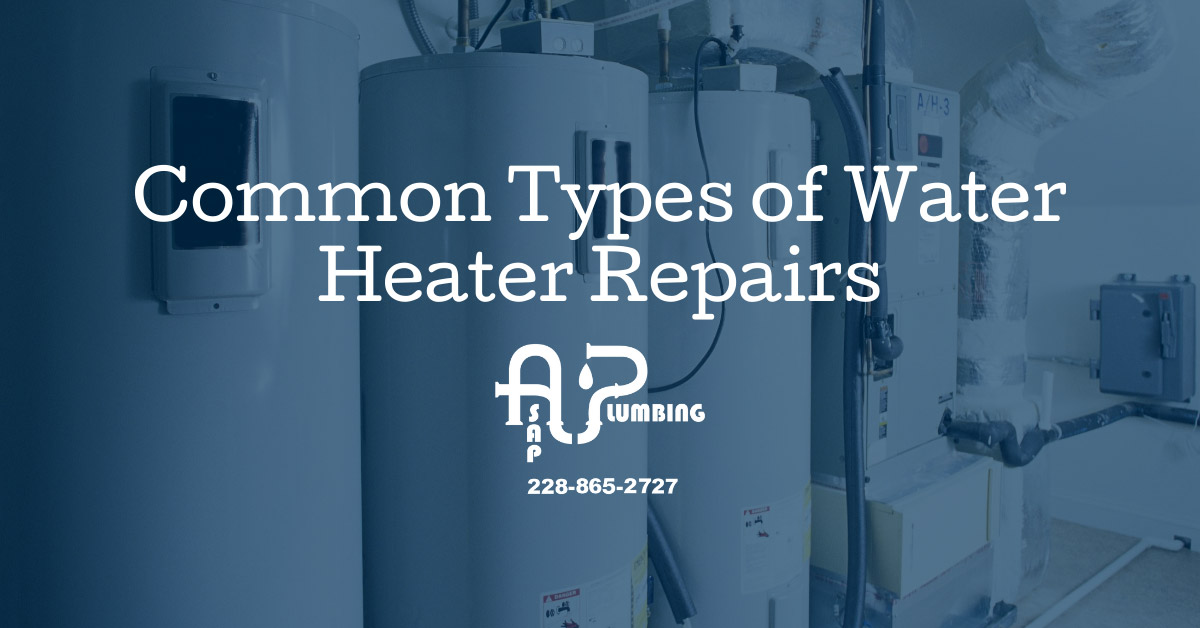 Common Types of Water Heater Repairs