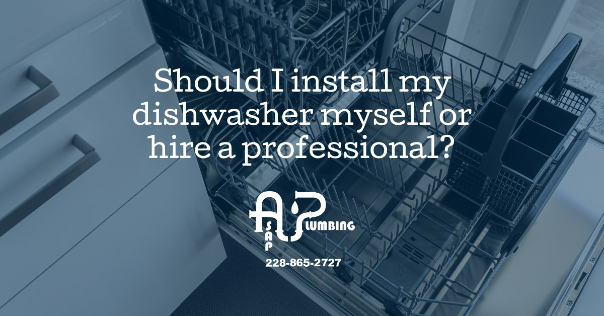 Should I install my dishwasher myself or hire a professional?