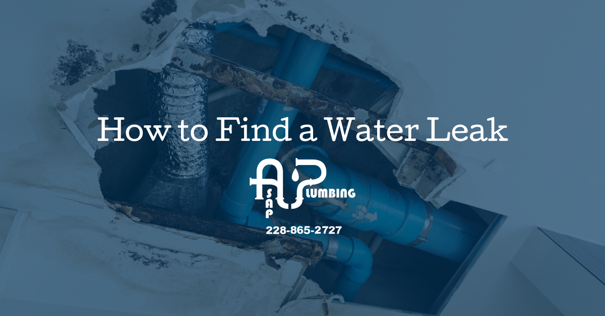 How to Find a Water Leak