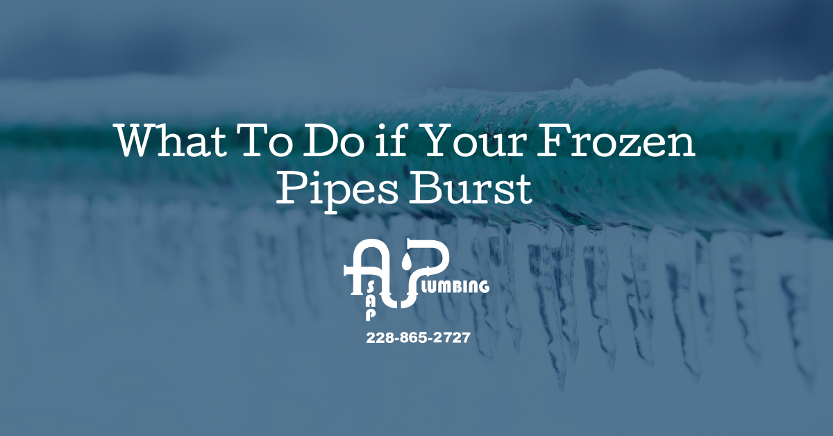 What to Do if Your Frozen Pipes Burst